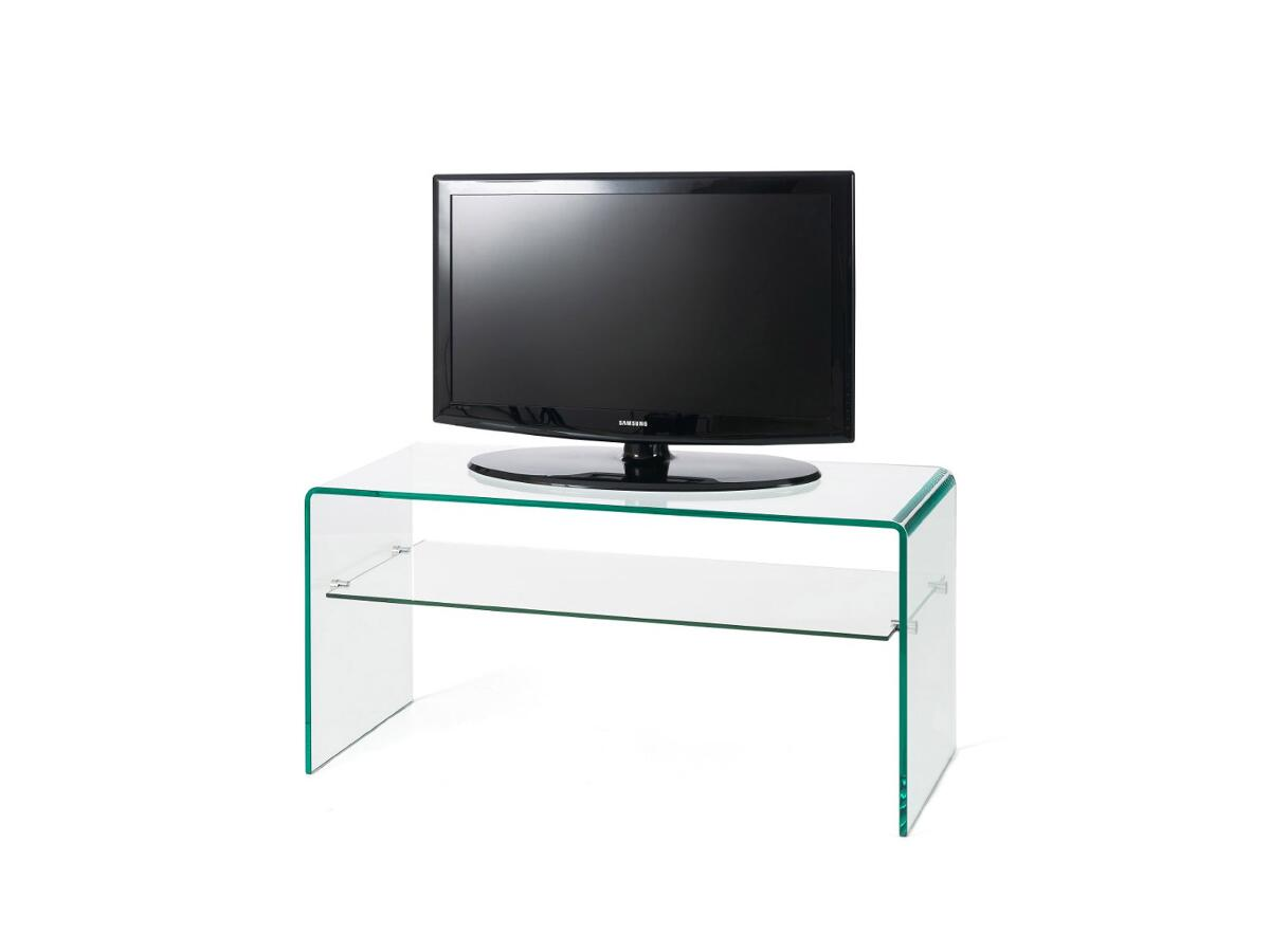 Meuble tv verre 1 tag re esmans for Meuble etagere tv