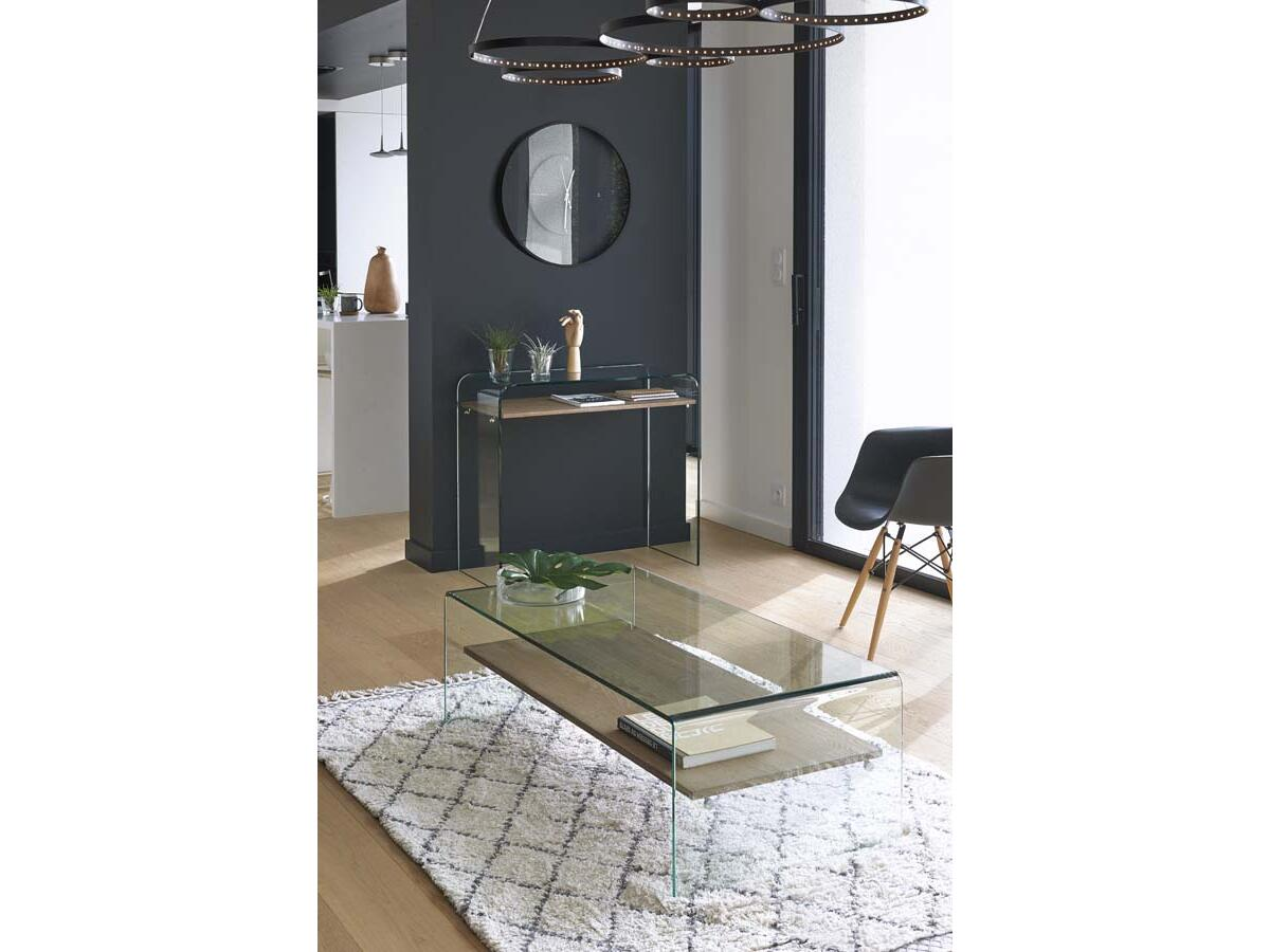 table basse transparente esmans. Black Bedroom Furniture Sets. Home Design Ideas